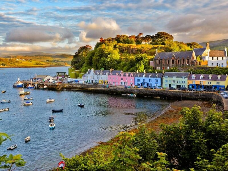 Portree - Skye Adası - İskoçya